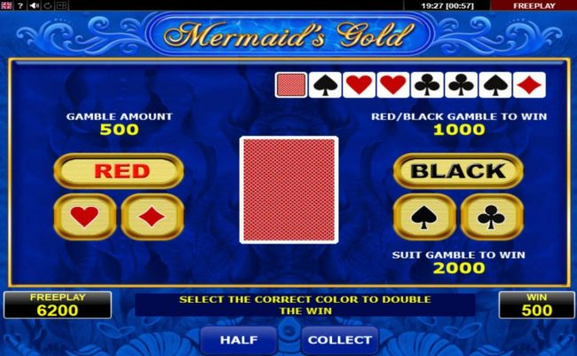 Mermaid's Gold :: Gamble Feature Game Board