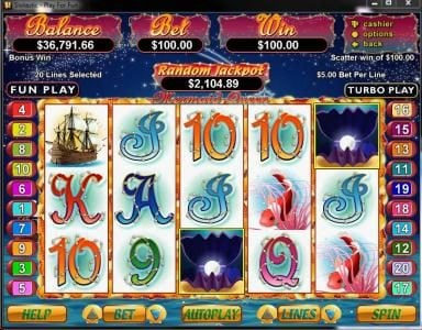 Club UK featuring the Video Slots Mermaid Queen with a maximum payout of $250,000