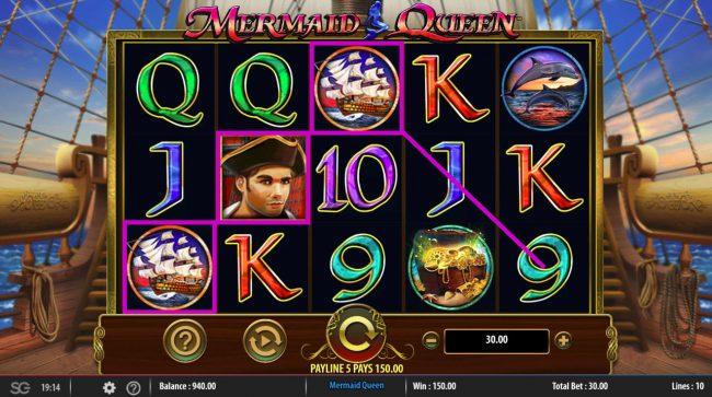 Mermaids Queen :: A winning three of a kind