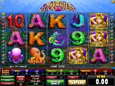 Play slots at Casinoval: Casinoval featuring the Video Slots Mermaid's Lucky Chest with a maximum payout of $250