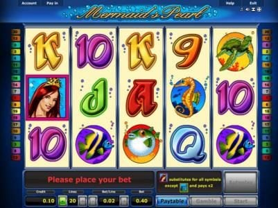 Play slots at Rich Prize: Rich Prize featuring the Video Slots Mermaid's Pearl with a maximum payout of $10,000