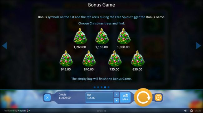 Winner Million featuring the Video Slots Merry Christmas with a maximum payout of $210,000