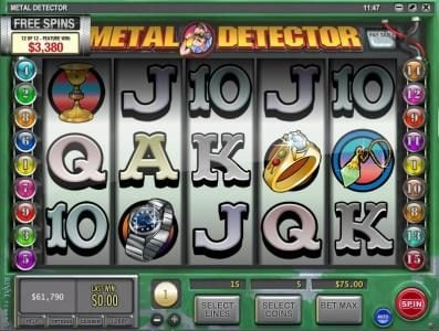 Box24 featuring the Video Slots Metal Detector with a maximum payout of $10,000