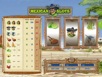 Play slots at 1BET: 1BET featuring the Video Slots Mexican Slots with a maximum payout of $15,000