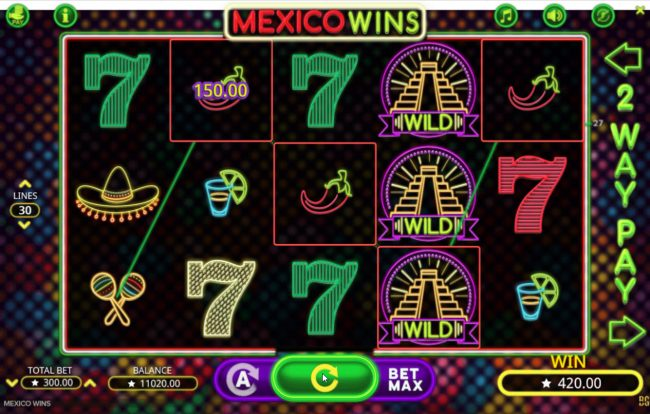 Play Club Casino featuring the Video Slots Mexico Wins with a maximum payout of $15,000