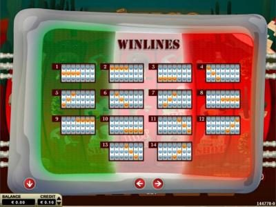 Mexico :: Win Lines Diagrams