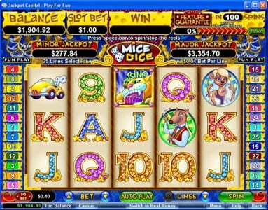 Play slots at Slotnuts: Slotnuts featuring the Video Slots Mice Dice with a maximum payout of $250,000
