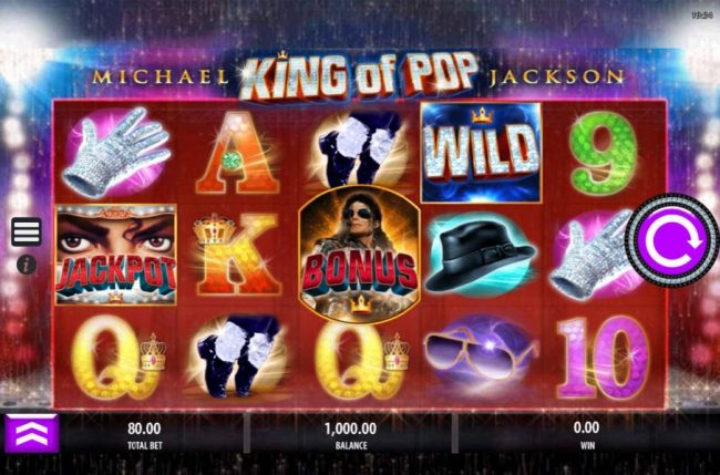 Coral featuring the Video Slots Michael Jackson King of Pop with a maximum payout of $750,000