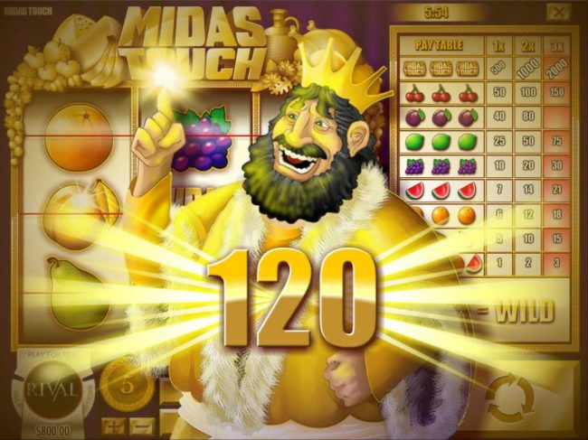 Supreme Play featuring the Video Slots Midas Touch with a maximum payout of $10,000