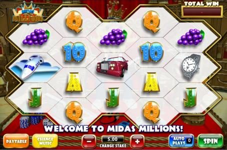 Windows Casino featuring the Video Slots Midas Millions with a maximum payout of 1,000x