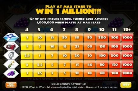 Fly Casino featuring the Video Slots Midas Millions with a maximum payout of 1,000x