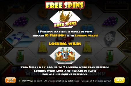 Slots Angel featuring the Video Slots Midas Millions with a maximum payout of 1,000x