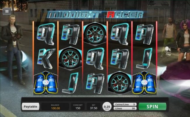 Big Dollar featuring the Video Slots Midnight Racer with a maximum payout of $156,000