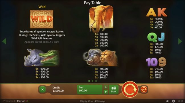Play slots at Cbet: Cbet featuring the Video Slots Mighty Africa with a maximum payout of $500,000