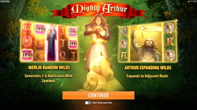 Dreamy 7 featuring the Video Slots Mighty Arthur with a maximum payout of $15,000