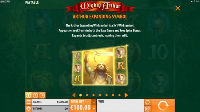 Play slots at Surf Casino: Surf Casino featuring the Video Slots Mighty Arthur with a maximum payout of $15,000
