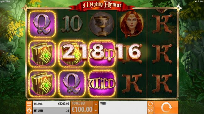 Royal House featuring the Video Slots Mighty Arthur with a maximum payout of $15,000