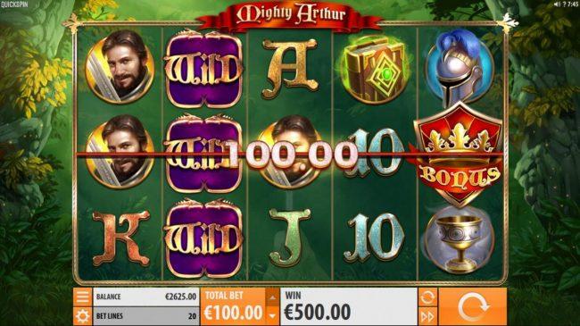 Mighty Arthur :: A 500 coin win