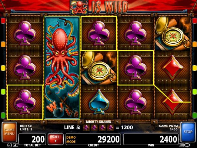 Campeon featuring the Video Slots Mighty Kraken with a maximum payout of $300,000