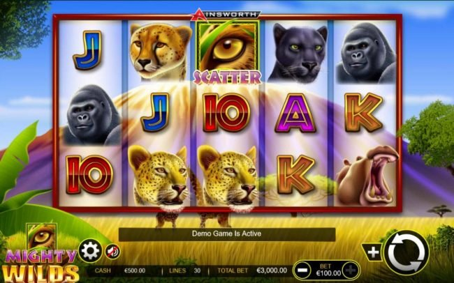Boaboa featuring the Video Slots Mighty Wilds with a maximum payout of $750,000