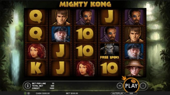 Play slots at iviCasino: iviCasino featuring the Video Slots Mighty Kong with a maximum payout of $5,000