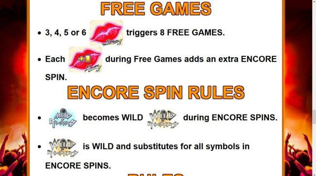 Mild Rockers :: Free Spins Bonus Game Rules