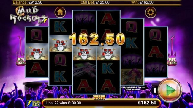 EU Casino featuring the Video Slots Mild Rockers with a maximum payout of $156,000