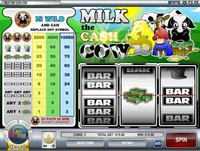 Desert Nights Rival featuring the Video Slots Milk the Cash Cow with a maximum payout of $300,000