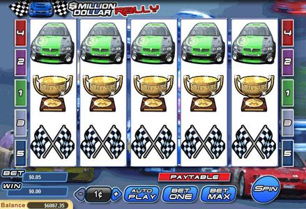 Intertops Classic featuring the Video Slots Million Dollar Rally with a maximum payout of $100,000