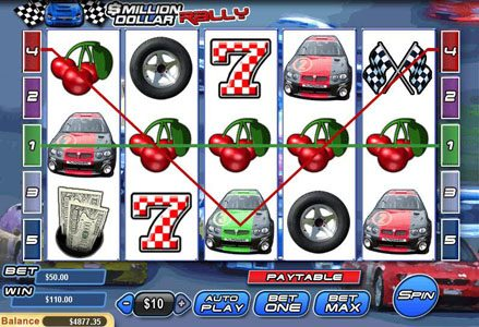 Lincoln featuring the Video Slots Million Dollar Rally with a maximum payout of $100,000