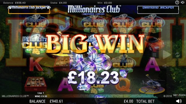 Crazy vegas featuring the Video Slots Millionaires Club Diamond Edition with a maximum payout of Jackpot