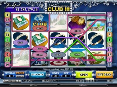 DruckGluck featuring the video-Slots Millionaires Club III with a maximum payout of 80,000