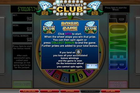 VIP Casino featuring the Video Slots Millionaires Club II with a maximum payout of $100,000