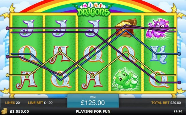 Wicked Jackpots featuring the Video Slots Mini Dragons with a maximum payout of $500,000