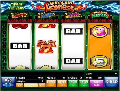 Play slots at Winstar: Winstar featuring the Video Slots Mini Spin Madness with a maximum payout of Jackpot
