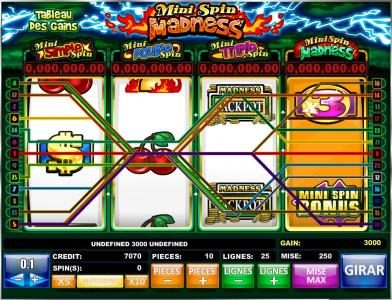 Play slots at Casinia: Casinia featuring the Video Slots Mini Spin Madness with a maximum payout of Jackpot