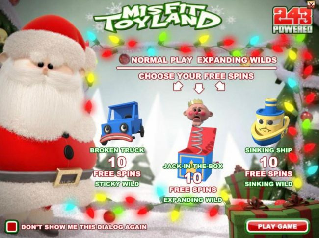 Rich Casino featuring the Video Slots Misfit Toyland with a maximum payout of $37,500