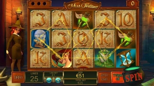 Fly Casino featuring the Video Slots Miss Fortune with a maximum payout of $250,000