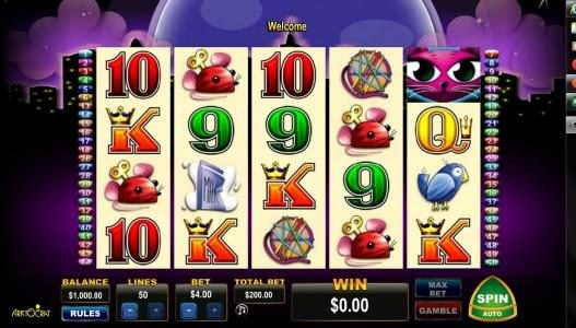 Play slots at Amsterdam Casino: Amsterdam Casino featuring the Video Slots Miss Kitty with a maximum payout of $400
