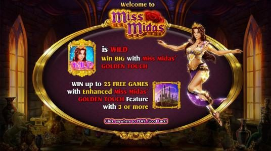 My Win 24 featuring the Video Slots Miss Midas with a maximum payout of $5,000