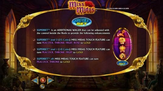 Miss Midas :: Super Bet Feature How to Play and Rules