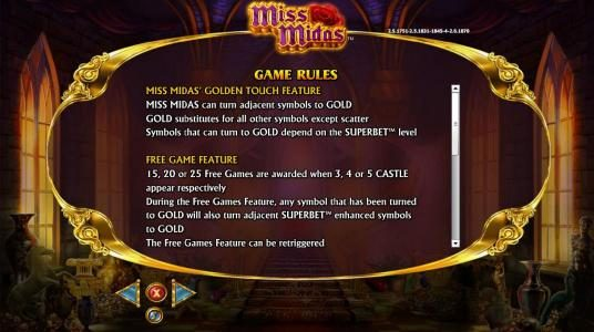 Miss Midas :: Golden Touch Feature rules