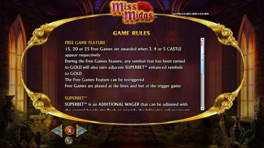 Miss Midas :: Free Game Feature Rules