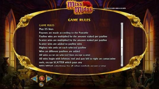 Vegas Winner featuring the Video Slots Miss Midas with a maximum payout of $5,000
