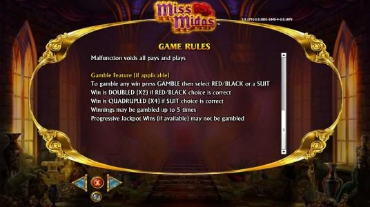 Miss Midas :: Gamble feature rules