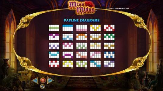 Miss Midas :: Payline Diagrams