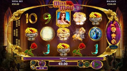 Casino Red Kings featuring the Video Slots Miss Midas with a maximum payout of $5,000