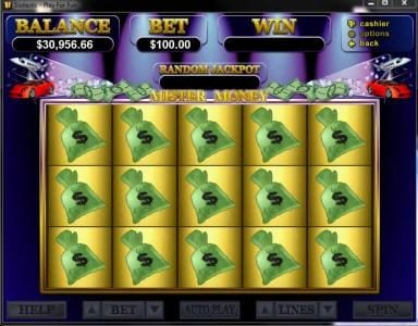 Club UK featuring the Video Slots Mister Money with a maximum payout of $250,000