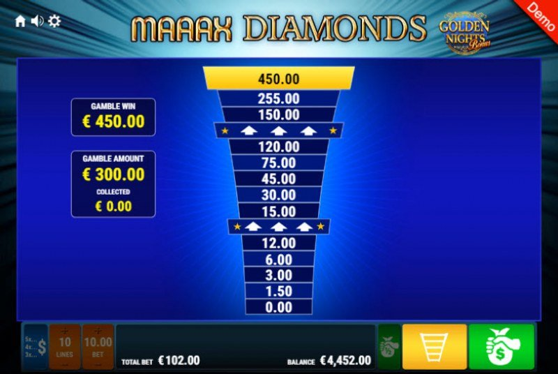 Maaax Diamonds Golden Nights Bonus :: Ladder Gamble Feature