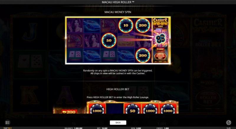 Macau High Roller :: Macau Money Spin
